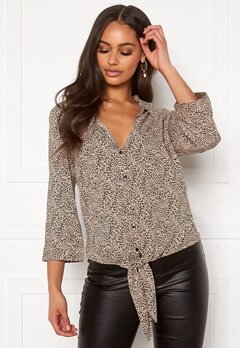 Happy Holly Juliette ss knot shirt Leopard Bubbleroom.se