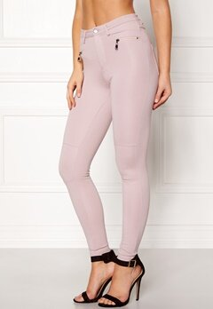 Happy Holly Justina tricot pants Dusty pink Bubbleroom.se