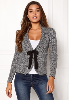 Happy Holly Kara cardigan Black / Offwhite Bubbleroom.se
