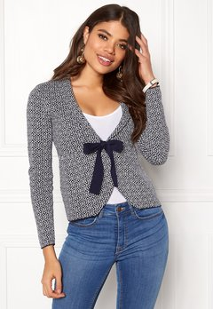 Happy Holly Kara cardigan Navy / Offwhite Bubbleroom.se