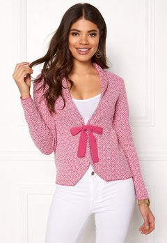 Happy Holly Kara cardigan Pink / Offwhite Bubbleroom.se