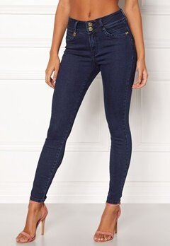 Happy Holly Karen jeans Dark denim Bubbleroom.se