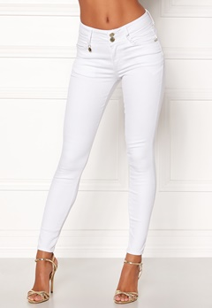 Happy Holly Karen jeans White Bubbleroom.se
