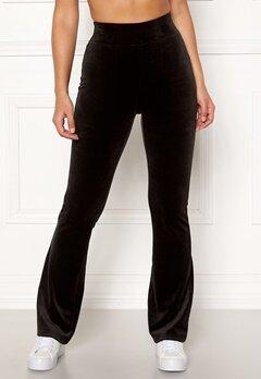 Happy Holly Kaylee velour flared leggings Black Bubbleroom.se