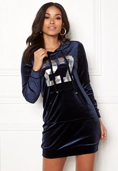 Happy Holly Kaylee velour hoody Dark blue Bubbleroom.se
