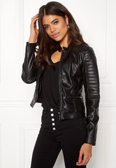 Happy Holly Keira pu jacket Black Bubbleroom.se