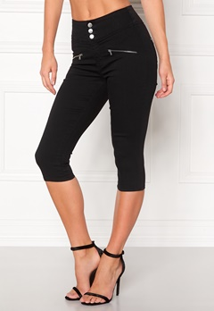 Happy Holly Kendall Crop trousers Black Bubbleroom.eu