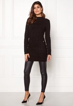 Happy Holly Kira cable sweater dress Black Bubbleroom.se