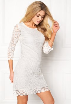 Happy Holly Lina lace dress Offwhite Bubbleroom.se