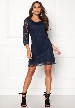 Happy Holly Lina lace dress Navy Bubbleroom.fi