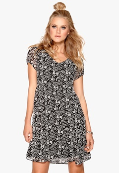 Happy Holly Dress Black/Patterned Bubbleroom.eu