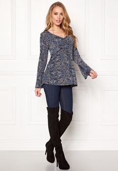 Happy Holly Klara top Blue/Patterned Bubbleroom.se