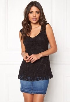 Happy Holly Kourtney lace top Black Bubbleroom.se