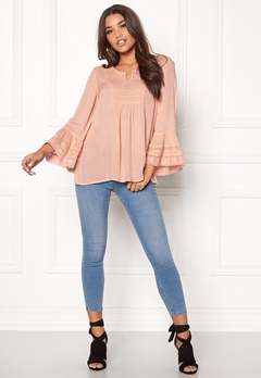 Happy Holly Kristel blouse Dusty pink Bubbleroom.se