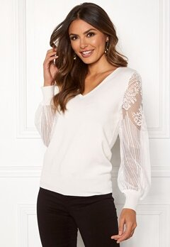 Happy Holly Laura sweater Offwhite Bubbleroom.se