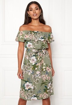 Happy Holly Layla dress  Khaki green / Patterned Bubbleroom.se