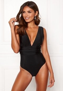 Happy Holly Leah swimsuit Black Bubbleroom.se