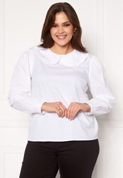 Happy Holly Leona blouse White Bubbleroom.se