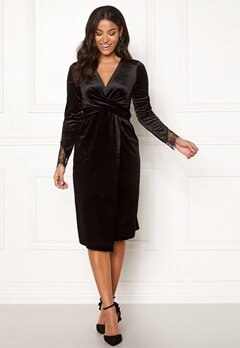 Happy Holly Leonora velvet dress Black Bubbleroom.se