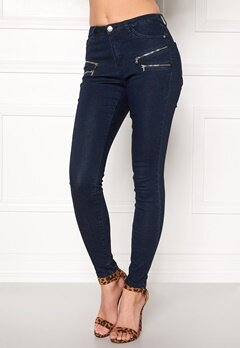 Happy Holly Limone jeans Dark denim Bubbleroom.se
