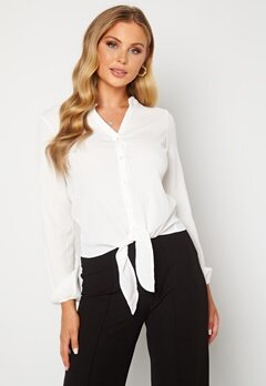 Happy Holly Lina knot blouse Offwhite Bubbleroom.se