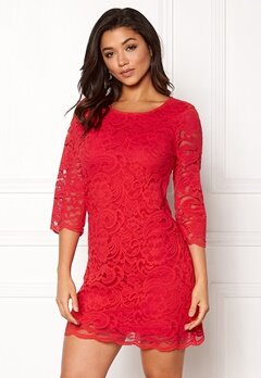 Happy Holly Lina lace dress Red Bubbleroom.se