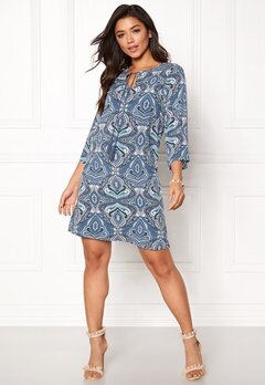 Happy Holly Livia dress Blue / Patterned Bubbleroom.se