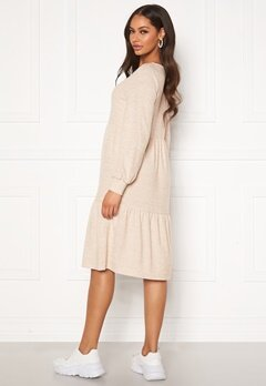 Happy Holly Liz flounce dress Light beige / Melange Bubbleroom.se