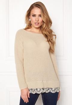 Happy Holly Luica sweater Light beige Bubbleroom.eu
