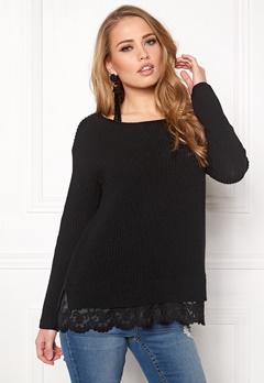 Happy Holly Luica sweater Black Bubbleroom.se