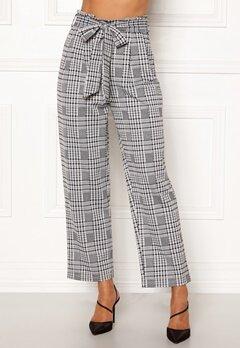 Happy Holly Luna paperbag wide pants Checked Bubbleroom.se