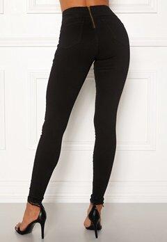 Happy Holly Lyra zip pants Black Bubbleroom.se