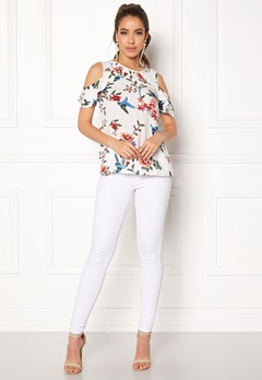 Happy Holly Maddy top Offwhite / Patterned Bubbleroom.se
