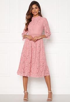 Happy Holly Madison lace dress Dusty pink Bubbleroom.se
