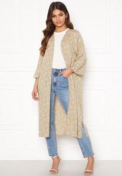 Happy Holly Madja long kimono Beige / Offwhite Bubbleroom.se