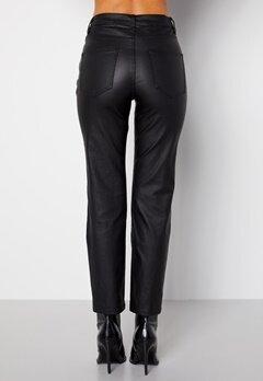 Happy Holly Maja coated pants Black bubbleroom.se
