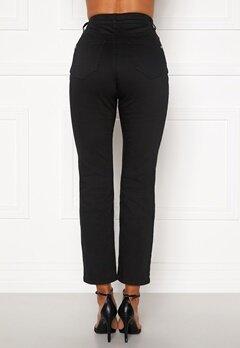 Happy Holly Maja high waist jeans Black Bubbleroom.se