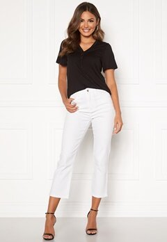 Happy Holly Maja high waist jeans White Bubbleroom.se