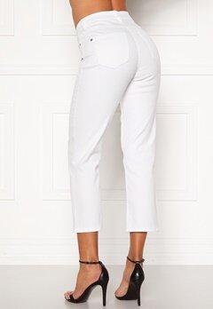 Happy Holly Maja high waist jeans White Bubbleroom.se