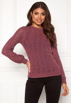 Happy Holly Malinda sweater Dark heather pink Bubbleroom.se