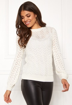 Happy Holly Malinda sweater Light beige Bubbleroom.se