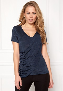 Happy Holly Malinda top Dark blue / Melange Bubbleroom.se