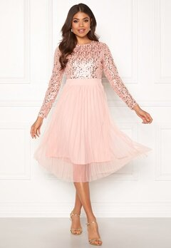Happy Holly Mandy dress Dusty pink Bubbleroom.se