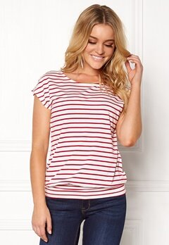Happy Holly Mandy top White / Red Bubbleroom.fi