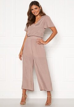 Happy Holly Mandy wide pants Dusty pink Bubbleroom.se