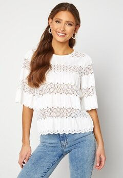 Happy Holly Maria kimono sleeve top White Bubbleroom.se