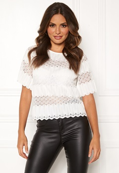 Happy Holly Maria lace top White Bubbleroom.se