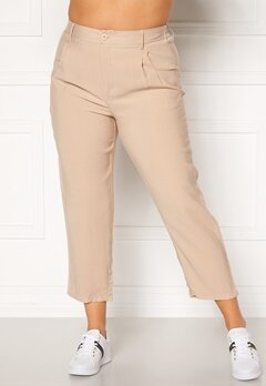 Happy Holly Maria straight leg pants Light beige Bubbleroom.se