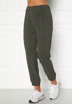 Happy Holly Maria woven pants Khaki green Bubbleroom.se