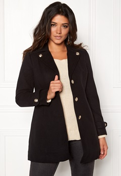 Happy Holly Marielle coat Black Bubbleroom.se